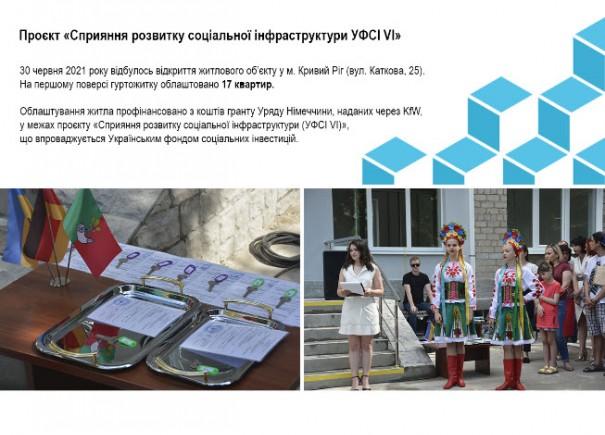 У місті Кривий Ріг відкрито житловий об'єкт для переселенців